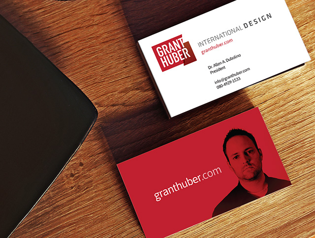 Grant Huber International Design Business Card