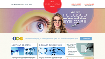 Progressive Eye Care Website